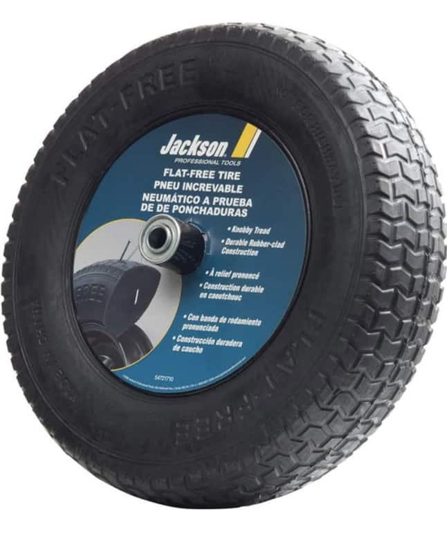 1. Jackson Flat Free Wheelbarrow Tires Size