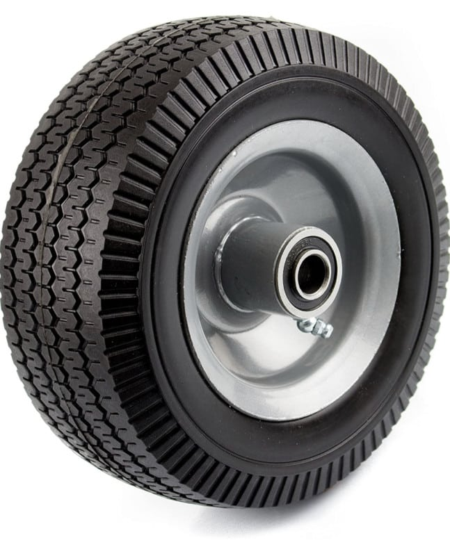 NK WFF8 Heavy-Duty 8-Inch Solid Rubber Flat Free Tubeless Hand Truck_Utility Tire Wheel