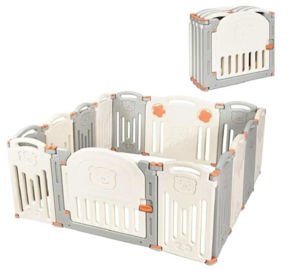 Costzon Foldable Playpen for Kids