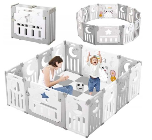 Dripex Extra-Large Portable Playpen for Kids