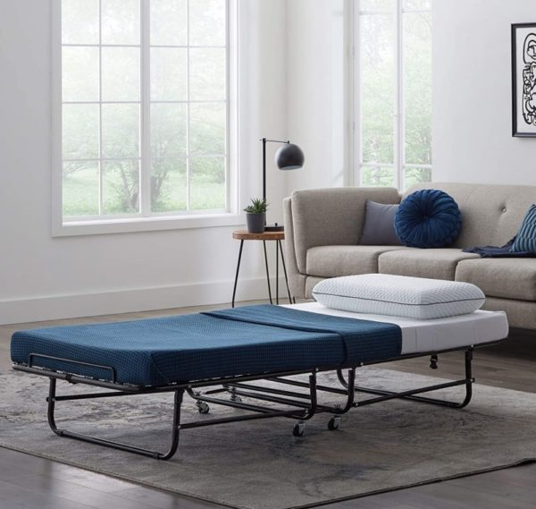 LUCID Rollaway Folding Guest Bed Cot