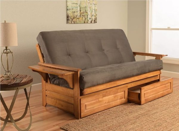 Lakeshore Complete Futon Queen Size Sofa Bed with Storage