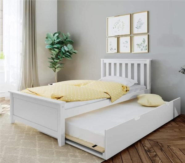 Max & Lily White Twin Bed with Trundle