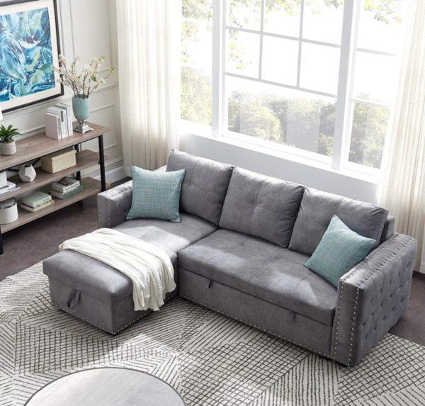 P PURLOVE Sofa Bed with Storage