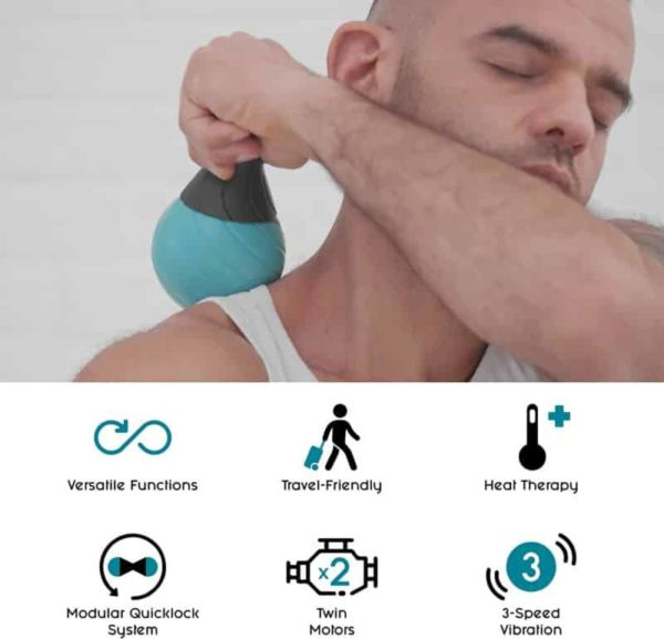 Polaryak Vibrating Massage Ball Foam Roller