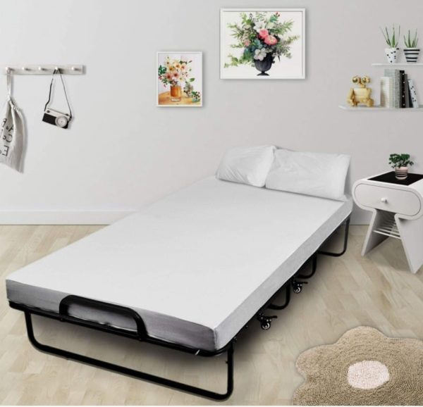 VV Wahfay Rollaway Folding Guest Bed with Memory Foam