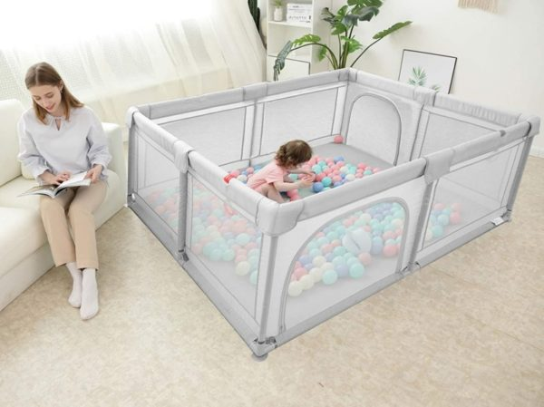 Vankerful Baby Portable Playpen with Safety Gates for Infants