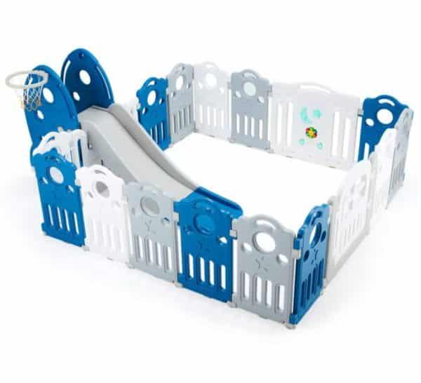 YOLENY Portable Playpen for Kids with Slide Set