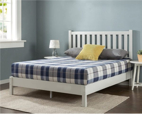 ZINUS Delux Wooden White Twin Bed