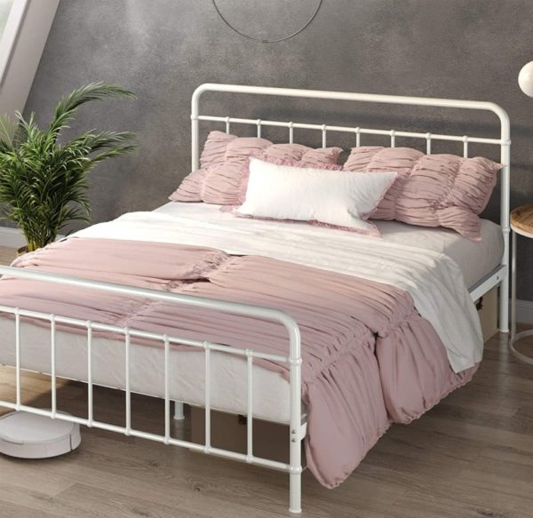 ZINUS Florence White Twin Bed