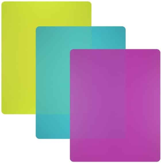 Plastic Flexible Cutting Board Mats Set