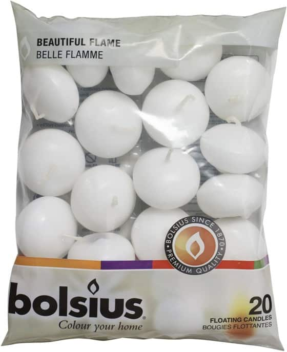 Bolsius Unscented Floating Candles