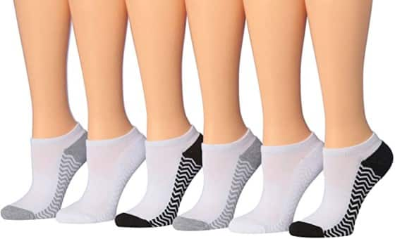 Tipi Low-Cut Socks for Women with Cushioned Sole - Extra Comfort