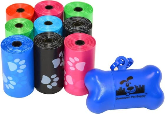 Downtown Pet Waste Leakproof Bags with Bag Separation
