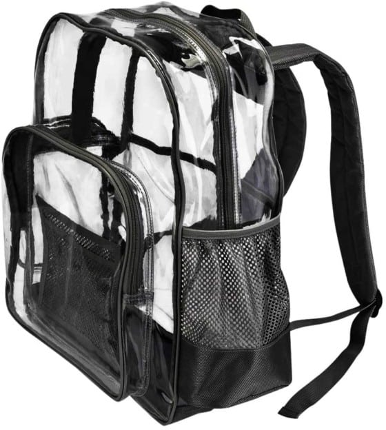 PLANET MADE FAMILY Large Clear Backpack