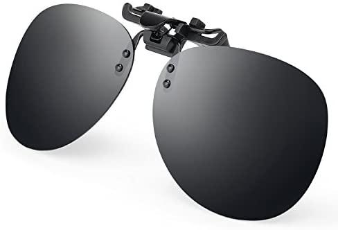 A Costyle-Black grey Clip-on plastic sunglasses