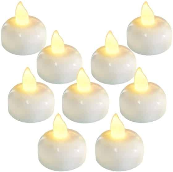 Flameless Waterproof Warm White Battery Operated LED Tea Lights Candles