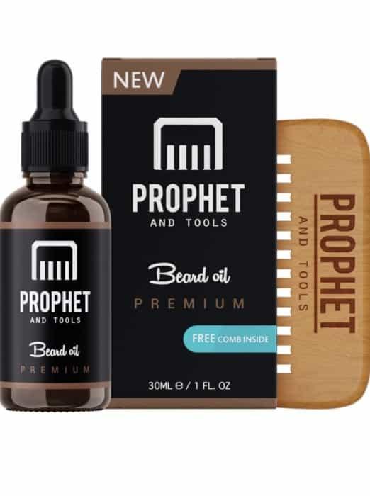 PROPHET 100% Organic Beard Oil for Faster and Fuller Hair Growth