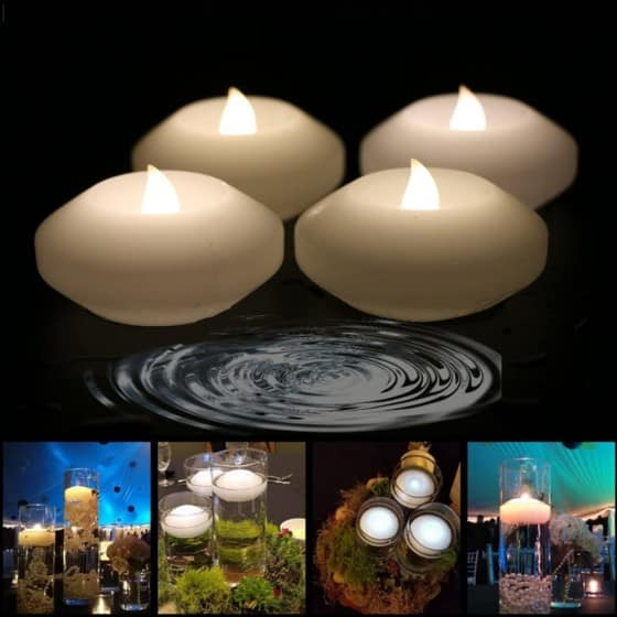 Warm White LED Water Floating Candle