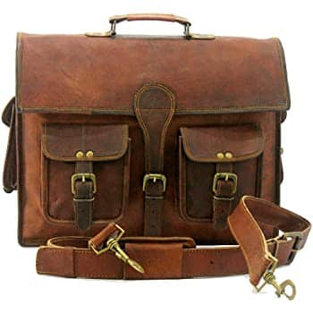 Vintage Brown Handmade World Messenger Bag