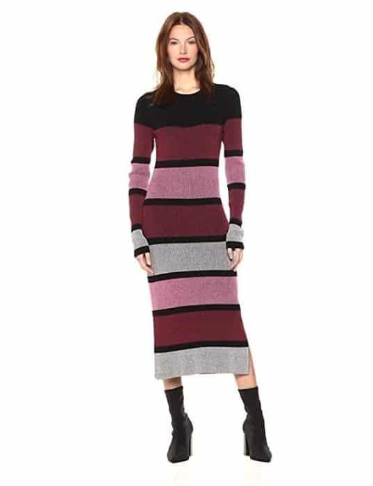 Cable Stitch Sweater Dress
