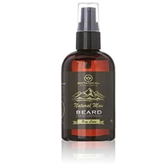 Botanical Skin Works Natural Man Bay Lime Beard Oil- 4 Ounces