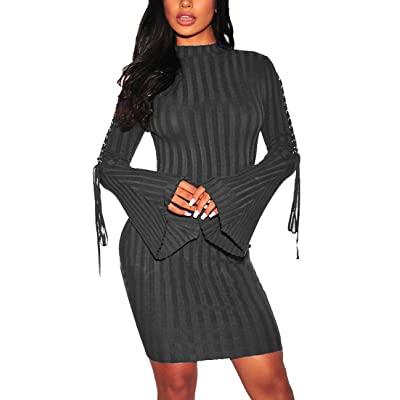 Women Bodycon Sweater Dress