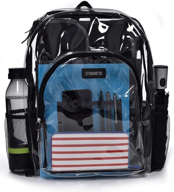 Masirs Heavy-duty Clear Backpack