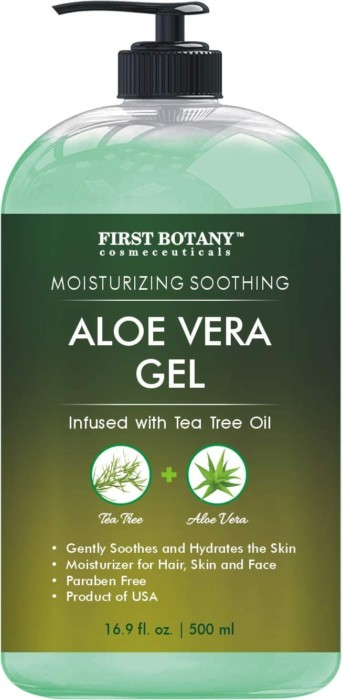 Aloe Gel from 100 Percent Pure Aloe Infused with Tea Tree Oil
