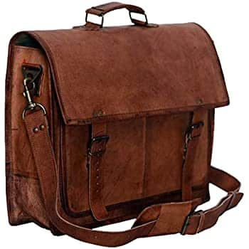 Komal's Passion Leather 16 inches Messenger Bag