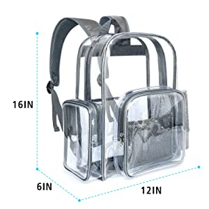 Packism Heavy-duty Clear Backpack