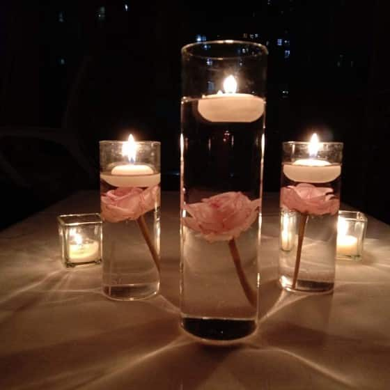 Mini Rose Vase Fillers TeaSu Artificial Flowers For Floating Candles