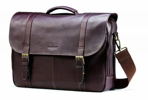 Durable Samsonite Flap-Over Messenger Bag