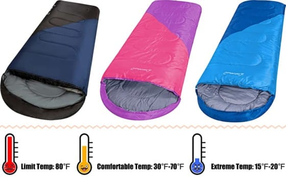 Clostnature Sleeping Bag – Compression Bag Included