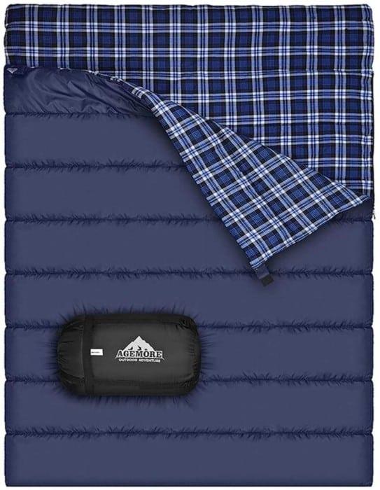 Cotton Flannel Double Sleeping Bag