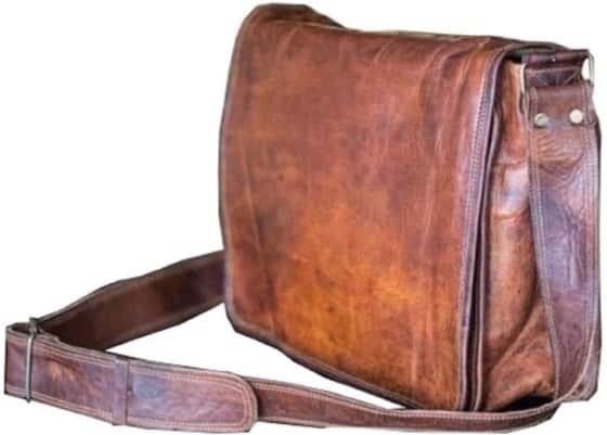 Efficient Vintage Couture Handmade Messenger Bag