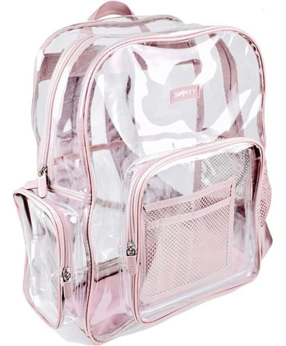 SMARTY Heavy-duty Clear Backpack