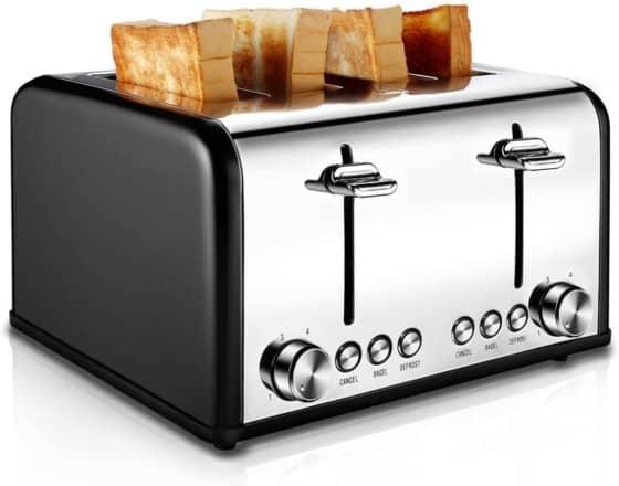 CUSIBOX Retro 4-slice Toaster