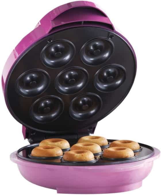 Brentwood Mini Donut Maker Machine, Non-stick, Pink