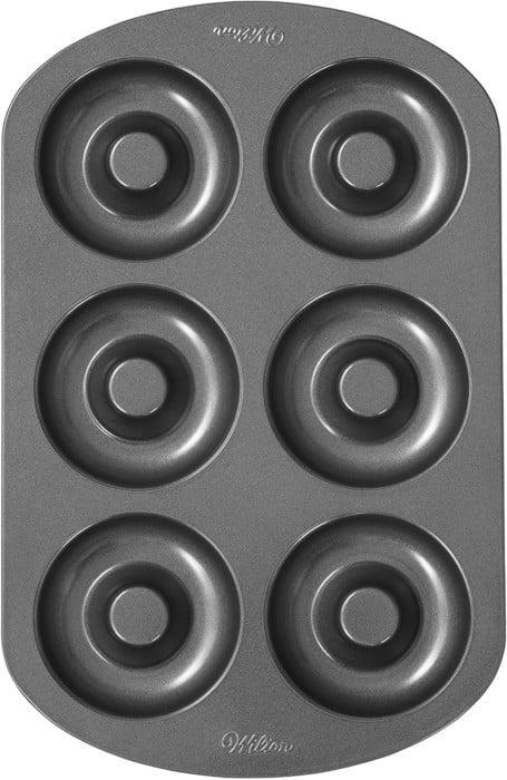 Wilton 6-Cavity Duughnut Baking Pan, Non-Stick and Dishwasher Safe