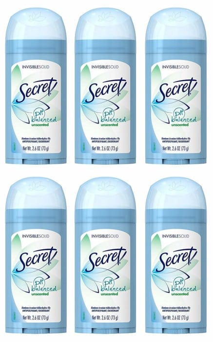 Invisible Solid Unscented Secret Antiperspirant and Deodorant for Women