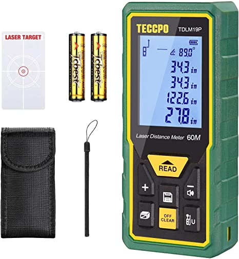 Laser Measure Advanced 196Ft TECCPO, Mute Laser Distance Meter