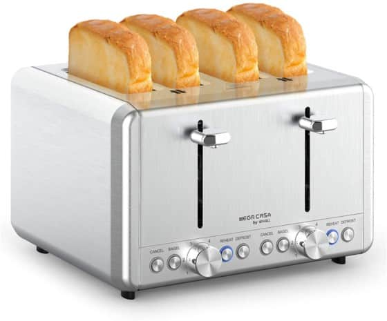 Whall Stainless Steel 4-slice Toaster