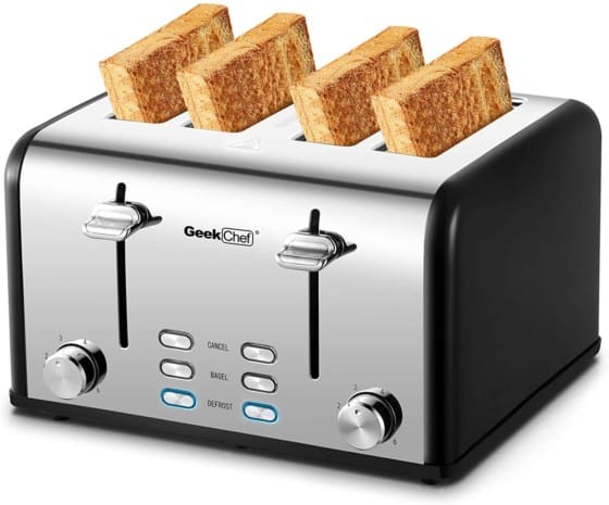 Silver Geek Chef 4-slice Toaster